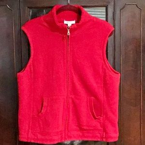 EUC! COLDWATER CREEK RED LINED VEST